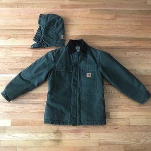 CARHARTT Cotton Sandstone Duck Jacket with hood